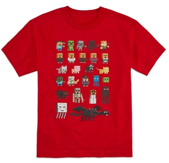 Mojang/Jinx Official Licensed Minecraft Sprites T-Shirt - Red
