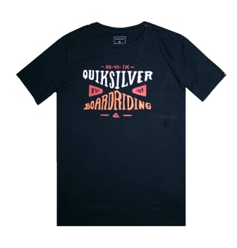 Quiksilver Youth Boys Board Riding Co S/S Tee - Midnight Blue