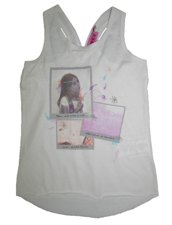 NKY by Kiabi France Girls Racerback Print Tank - Vanilla