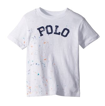 Polo Ralph Lauren Youth Boys Paint Splatter S/S - White