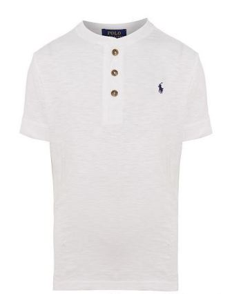 Polo Ralph Lauren Junior Boys Slub Henley S/S - White