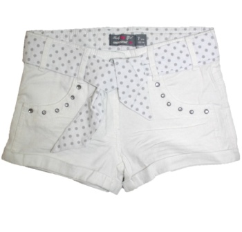 Orchestra France Girls Crystal Stud Shorts with Belt
