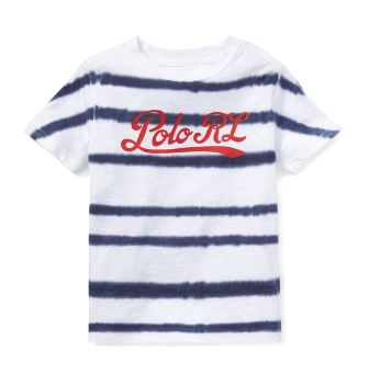 Lauren Tie Dye Ss Polo White Boys Ralph Junior Stripe 4jA5R3L