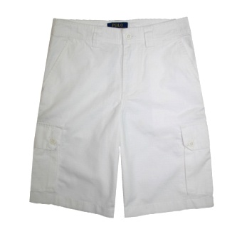 Polo Ralph Lauren Junior Boys Ripstop Utility Shorts - White