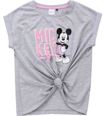 Disney Licensed Girls Mickey Mouse Knot  Tassle Tee