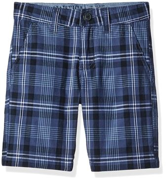 Nautica Junior Boys Plaid Chino Shorts - Navy