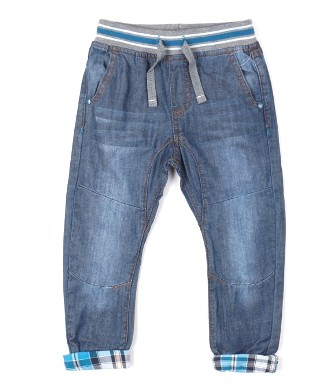 Rorert Europe  Designer Boys Drop Crotch Cuffed Jeans