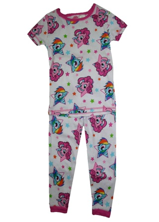 Hasbro Official Licensed My Little Pony Girls  Fitted Pyjamas