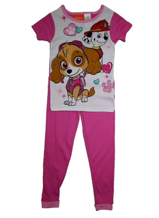 Nickelodeon Official Licensed Paw Patrol Girls Fitted Pyjamas - Pink