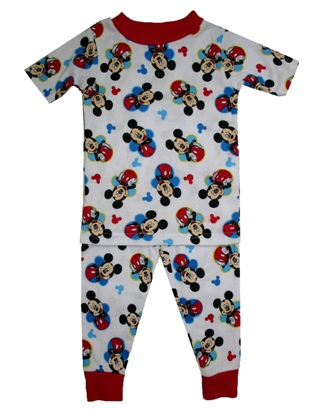 Disney Store Official Licensed Boys Mickey Mouse AOP Fitted Pyjamas - Multi