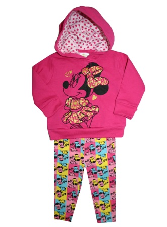 ed1e8464c0c7b Disney Store Official Licensed Baby Girls Minnie Mouse Glitter 2-pc  Windcheater Set - Hot Pink/Multi