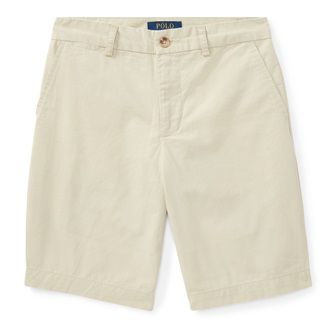 Polo Ralph Lauren Youth Boys Flat Front Chino Short - Stone