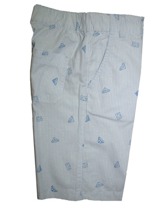 Nautica Junior Boys Pull Up Pin Stripe Walk Short - Light Blue