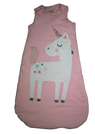 Little Ones by for F & F Stores UK Appliqued Unicorn Sleeping Bag (2.5 tog - Standard Weight)