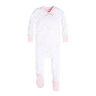 Burt's Bees GOTS Certified Organic Cotton Infant/Toddler Twinkle Bee Sleep Onesie - White/Pink