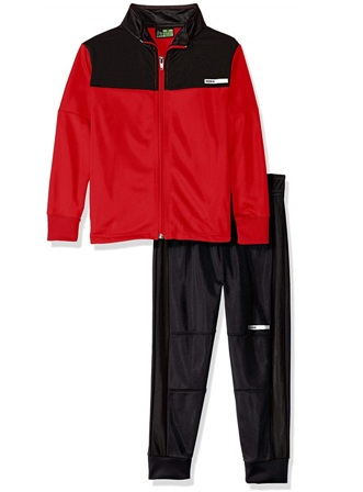 RBX USA  Boys 2-pc Track Set - Red/Black
