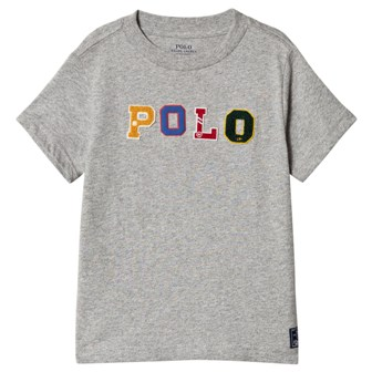 Polo Ralph Lauren Youth Boys POLO Appliqued Melange  S/S - Grey