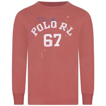 Polo Ralph Lauren Youth Boys Paint Splat L/S - Coral