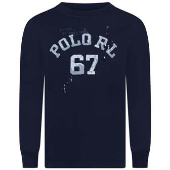 Polo Ralph Lauren Youth Boys Paint Splat L/S - Navy