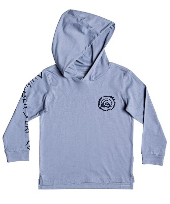 Quiksilver Junior Boys Obvious Winner Hooded L/S - Slate Blue