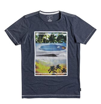 Quiksilver Youth Boys  Place To Be S/S Tee - Marle Blue