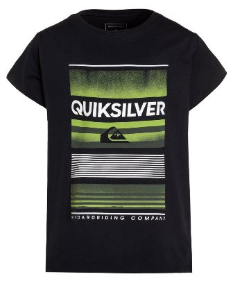 Quiksilver Youth Boys  Flaxton High Up S/S Tee - Black