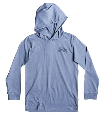 Quiksilver Youth Boys Tattered Hooded L/S - Slate Blue
