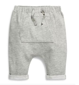 Boys Infant Drop Crotch Jogger - Marle Grey