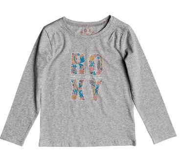 Roxy Junior Girls Never Ages Flower Power  L/S - Grey