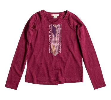 Roxy Youth Girls Afterglow Split Back L/S - Aubergine