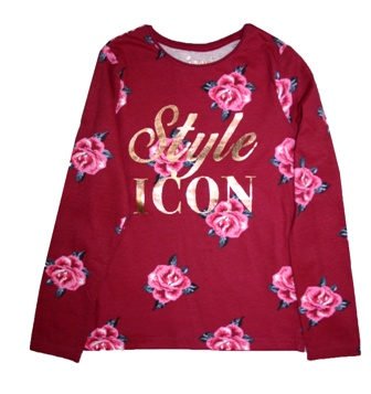 Primark UK Youth Girls Style Icon Floral  L/S