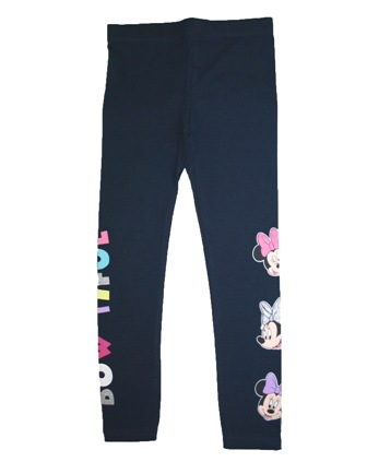 Disney Official Licensed Girls Minnie Mouse Leggings  - Navy