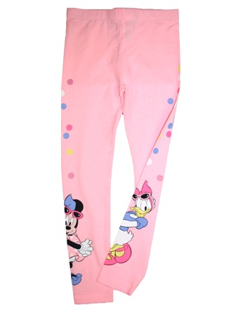 Disney Official Licensed Girls Minnie Mouse/Daisy Duck Leggings  - Pink