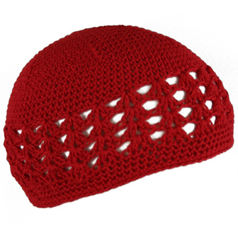Feral Princess Infant Crochet Beanie - Red