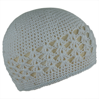 Feral Princess Infant Crochet Beanie -  White