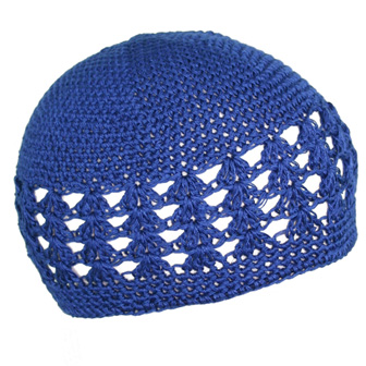 Feral Princess Infant Crochet Beanie -  Denim Blue