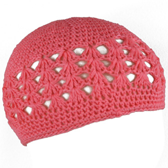 Feral Princess Infant Crochet Beanie -  Coral