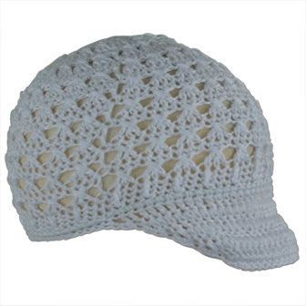 Feral Princess Crochet Newspaper Boy Hat - White