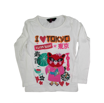 Young Dimension Girls I Love Sushi Long Sleeve - White