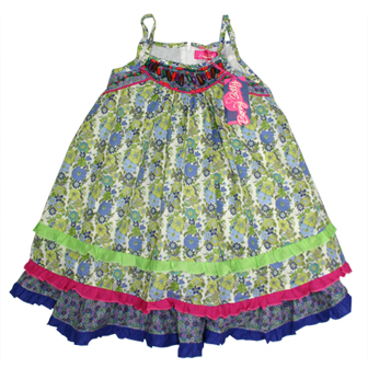 Bonnybilly Girls Lili Boho Beaded Dress  - Multi