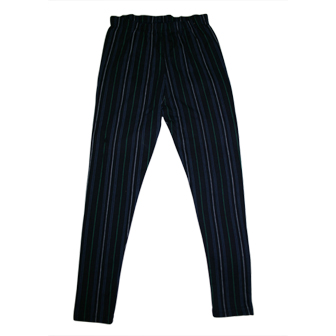Girls Pin Stripe Print  Leggings - Navy Blue