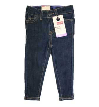 Levis Girls Infant/Toddler Skinny Denim Stretch Jeggings - Night Out Dark Blue