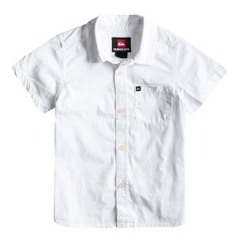 Quiksilver Boys Elliot Youth Short Sleeve Shirt - White