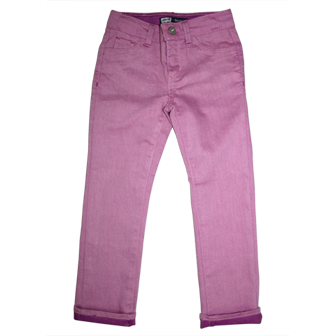 Levis Girls Junior Skinny Denim Two Tone Coloured Jeans - Pink