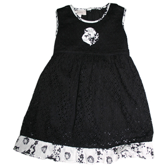 Loft Anne Taylor Girls Lace Dress  - Black
