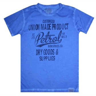 Petrol Industries Boys Print Short Sleeve - Blue