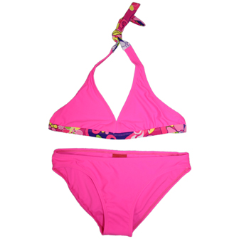 Dohil Brazil Girls Youth Pucci Mono Bikini  - Hot Pink