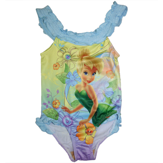 Disney Tinkerbell Girls One Piece Swimsuit - Blue
