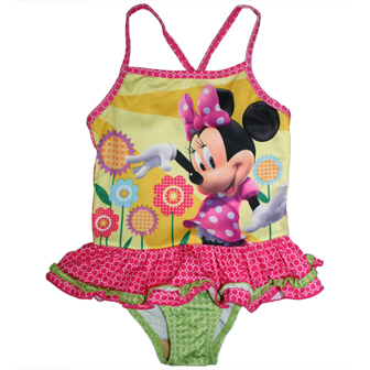 Disney Minnie Mouse Girls One Piece Swimsuit - Pink
