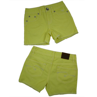 Justice Girls USA Girls Candy Shorts - Yellow